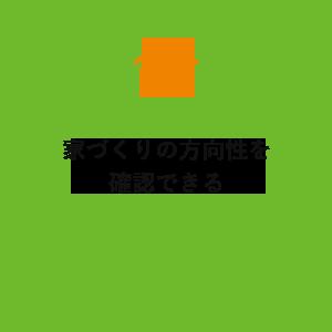 家づくりの方向性を確認できる